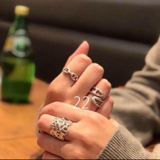 アレキサンダーマックイーン(Alexander McQueen)のすみれちゃんリピ様ご予約 シェーヌダングル3連(リング(指輪))