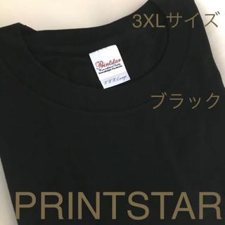 新品  無地  Tシャツ   3XLサイズ  ブラック  bz d(Tシャツ/カットソー(半袖/袖なし))