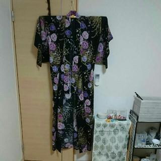 シマムラ(しまむら)の浴衣 黒色 花柄(浴衣)