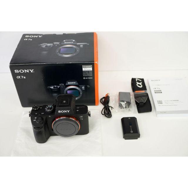SONY(ソニー)のSONYフルサイズ α7Ⅲ ILCE-7M3 ボディ 中古 スマホ/家電/カメラのカメラ(ミラーレス一眼)の商品写真