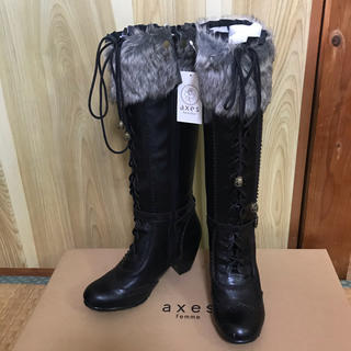 アクシーズファム(axes femme)の新品タグ付き☆axes femme  ブーツ(ブーツ)