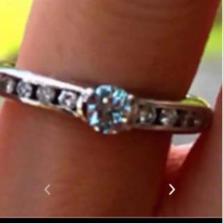アイスブルーダイヤ  pt900  リング(リング(指輪))