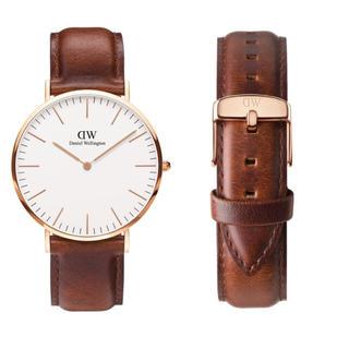 ダニエルウェリントン(Daniel Wellington)の【40㎜】ダニエル ウェリントン腕時計 DW00100106《3年保証書付》(腕時計(アナログ))