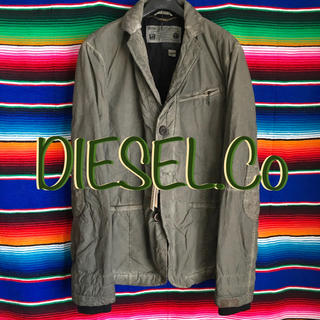 ディーゼル(DIESEL)のDIESELディーゼル限定デザインテーラードミリタリージャケットM olive(ミリタリージャケット)