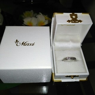 Maxi 14金ホワイトゴールド リング(リング(指輪))