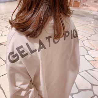 gelato pique - ジェラートピケ新品ビッグロゴプルオーバー&ロゴレギンスセット☆ベージュ