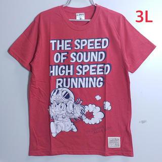 新品 3L XXL アラレちゃん 大きいサイズ Tシャツ レッド(Tシャツ/カットソー(半袖/袖なし))