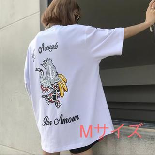 37*新品*値下げ中  大人気商品!鶴Tシャツ  白  M