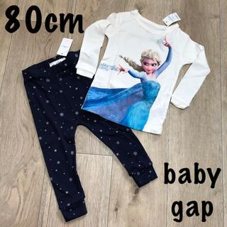 ベビーギャップ(babyGAP)の80センチ 定価3600円 ベビーギャップ 80cm 長袖パジャマ アナ雪(パジャマ)