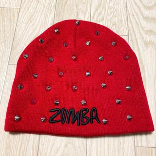 Zumba - 新品 zumba ズンバ スタッズ ニット帽 赤