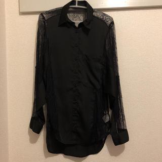 ムルーア(MURUA)のムルーアレースオーバーシャツ(シャツ/ブラウス(長袖/七分))