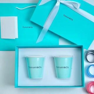 ティファニー(Tiffany & Co.)の紙コップ風  ティファニー コップ 2個(グラス/カップ)