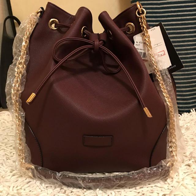 nano・universe(ナノユニバース)のチェーン 巾着ショルダーバッグ レディースのバッグ(ショルダーバッグ)の商品写真