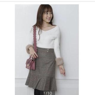 Rirandture - 新品タグ付✨リランドチュール✨チェック裾フレアスカート