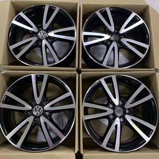 Volkswagen - 【送料無料】VW フォールクスワーゲン 17インチホイール 4本 シルバ&ブラッ