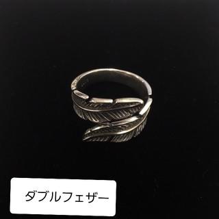 シルバーリング s925 フェザー クロス フリーサイズ インディアン (リング(指輪))