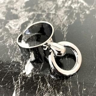 リング付きワイドリング アクセサリー 指輪(リング(指輪))