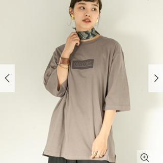 センスオブプレイスバイアーバンリサーチ(SENSE OF PLACE by URBAN RESEARCH)のフロッキープリントビッグTシャツ(7部袖)(Tシャツ(長袖/七分))
