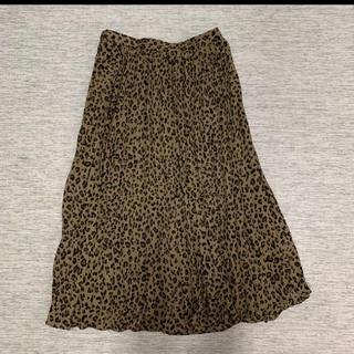 GU - レオパードプリーツスカート