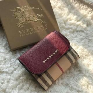BURBERRY - 人気デザイン △▽ BURBERRYミニ財布バーバリー