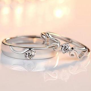 【ラッピング付き】ペアリング フリーサイズ 指輪 メンズ レディース 2個セット(リング(指輪))