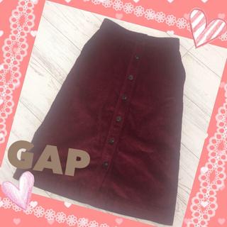 ギャップ(GAP)のGAP ♡ コーデュロイスカート ♡ XS ♡ 赤  ♡ 膝丈スカート(ひざ丈スカート)