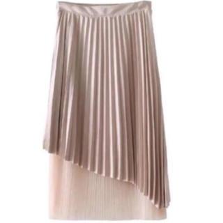 ZARA - ブラウン プリーツ切り替えスカート