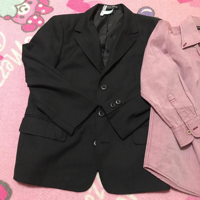 HIROMICHI NAKANO(ヒロミチナカノ)の男の子 スーツ ジャケット シャツ ナカノヒロミチ 120 キッズ/ベビー/マタニティのキッズ服 男の子用(90cm~)(ドレス/フォーマル)の商品写真