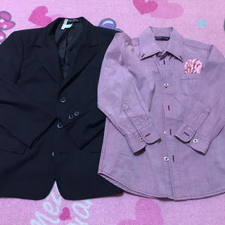 ヒロミチナカノ(HIROMICHI NAKANO)の男の子 スーツ ジャケット シャツ ナカノヒロミチ 120(ドレス/フォーマル)