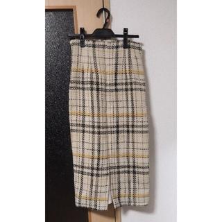 ミラオーウェン(Mila Owen)のMila Owen ミラオーウェン タイトスカート チェック 新品 サイズ:0 (ロングスカート)