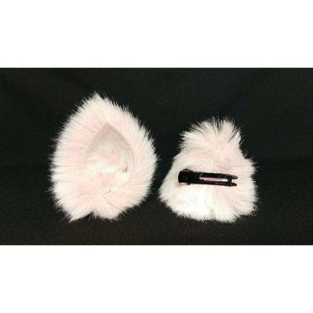 【 ピンクネコミミ 】ヘアピンねこみみ◆桃色のねこ耳◆頭の髪に着けられる猫耳 ハンドメイドのアクセサリー(ヘアアクセサリー)の商品写真