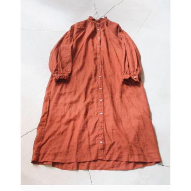 nest Robe(ネストローブ)のネストローブ  リネンフリンジカラー ワンピース 新品 レディースのワンピース(ロングワンピース/マキシワンピース)の商品写真