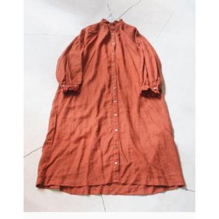 ネストローブ(nest Robe)のネストローブ  リネンフリンジカラー ワンピース 新品(ロングワンピース/マキシワンピース)
