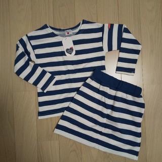 キャサリンコテージ(Catherine Cottage)の【新品未使用】キャサリンコテージ ストライプ セットアップ  女児 120(Tシャツ/カットソー)