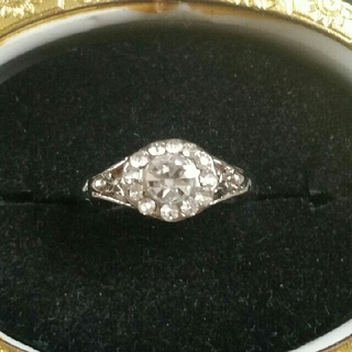 ◆6◆フラワーモチーフのリング クリア(リング(指輪))