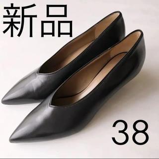 DEUXIEME CLASSE - 【未使用】定価102,600円 ALUMNAE Vカットパンプス 38