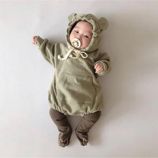 くま耳ロンパース ベビーロンパース 韓国子供服
