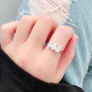 💖NEW✨大粒✨ジルコニア✨指輪🌈アレルギー対応✨エレガント✨重ね付け(リング(指輪))