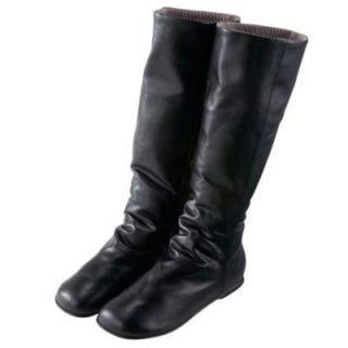 ムジルシリョウヒン(MUJI (無印良品))の無印良品 MUJI 折り返せる足なりブーツ S 未使用(ブーツ)