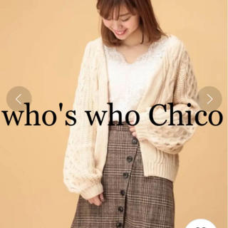 フーズフーチコ(who's who Chico)のwho's who Chico❁⃘ ボタン付グレンチェックラップスカート(ミニスカート)