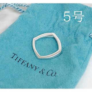 Tiffany & Co. - ティファニー スクエア リング シルバー SV925 サイズ 約5号
