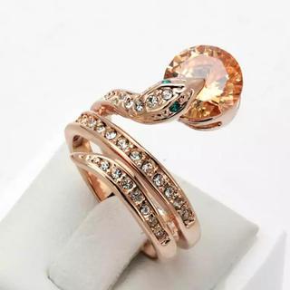金運のお守りに★蛇のリング ヘビ  指輪 ピンクゴールド (リング(指輪))