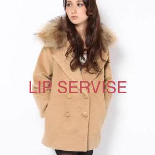 リップサービス(LIP SERVICE)のリップサービス ラクーンファー コート ベージュ(ロングコート)