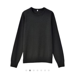 MUJI (無印良品) - ウールシルク 洗えるクルーネックセーター