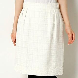 デビュードフィオレ(Debut de Fiore)の新品☆裾レース ツィードスカート(ひざ丈スカート)