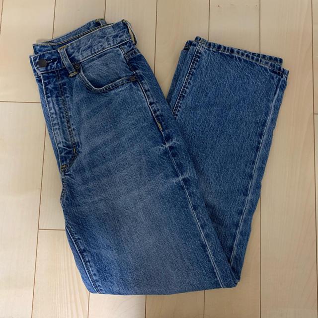 GU(ジーユー)のハイウエストストレートジーンズ サイズM  レディースのパンツ(デニム/ジーンズ)の商品写真