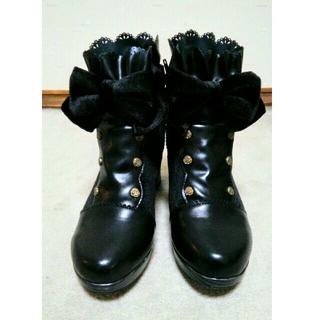 アクシーズファム(axes femme)のaxes femme/リボン付ナポレオンショートブーツ(ブーツ)