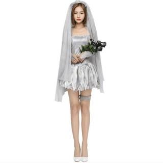 【即日発送】ハロウィン ゾンビ花嫁4点セット Mサイズ(衣装一式)