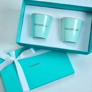 ティファニー(Tiffany & Co.)の未使用 ティファニー 紙コップ プレゼントラッピング(グラス/カップ)
