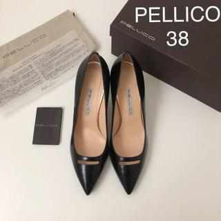 PELLICO - 極美品 ★ ペリーコ アネッリ パンプス ★ ブラック 38
